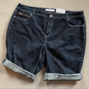 Dark denim long classic shorts size 22W